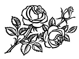 roses_BW_clipart